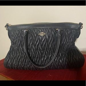 Coach Quoted Leather Purse